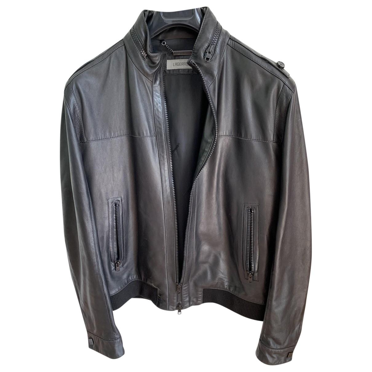 Karl Lagerfeld - Vestes.Blousons   pour homme en cuir - noir