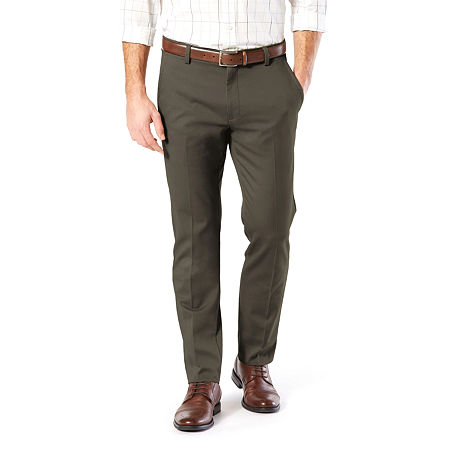 Dockers Men's Slim Fit Easy Khaki with Stretch Pants, 33 30, Green