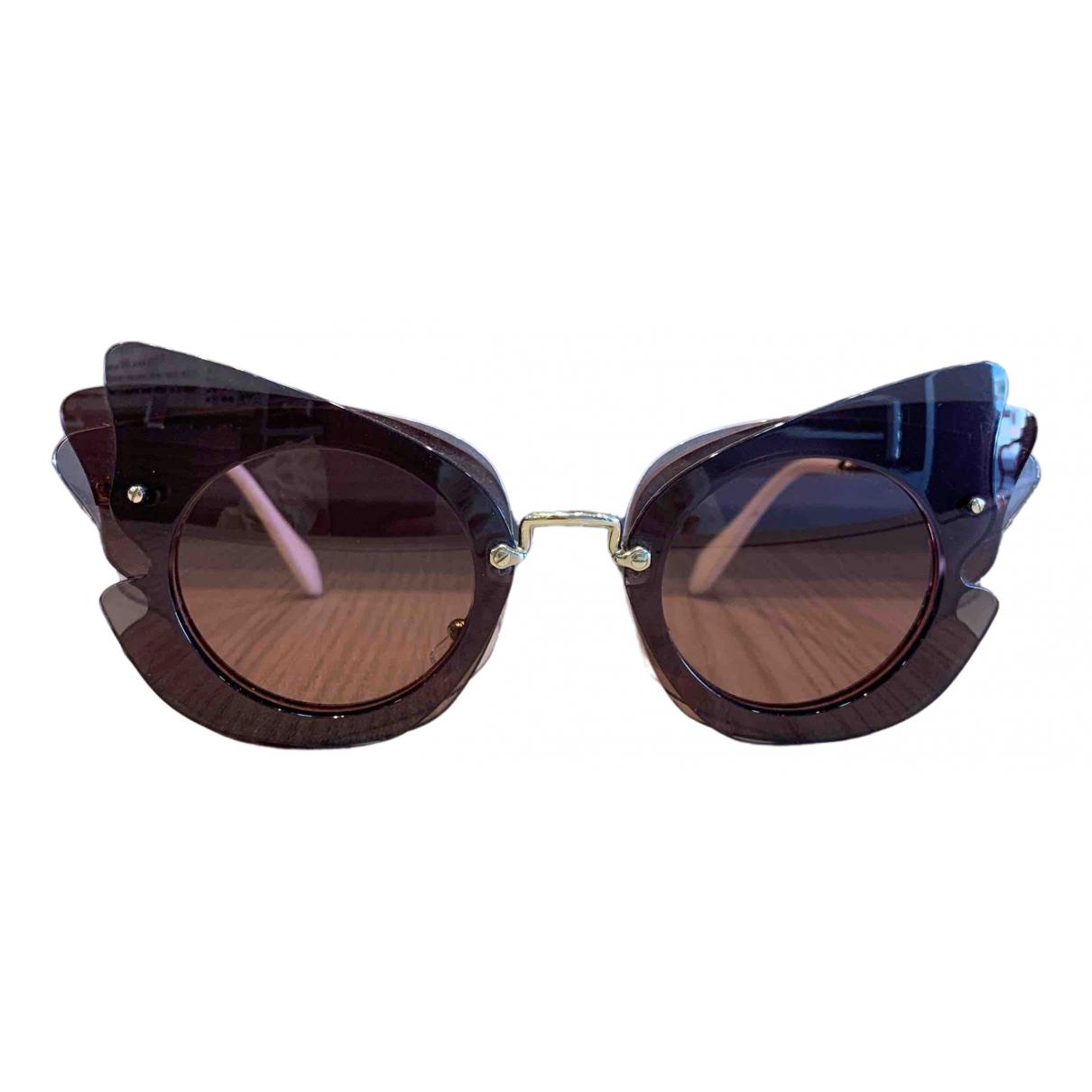 Miu Miu \N Burgundy Metal Sunglasses for Women \N