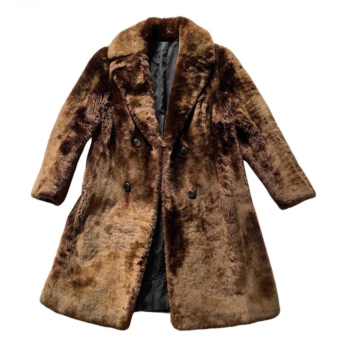 - Manteau   pour femme en castor - marron