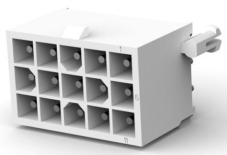 TE Connectivity , Mini-Universal MATE-N-LOK, 15 Way, 3 Row, Straight PCB Header (5)