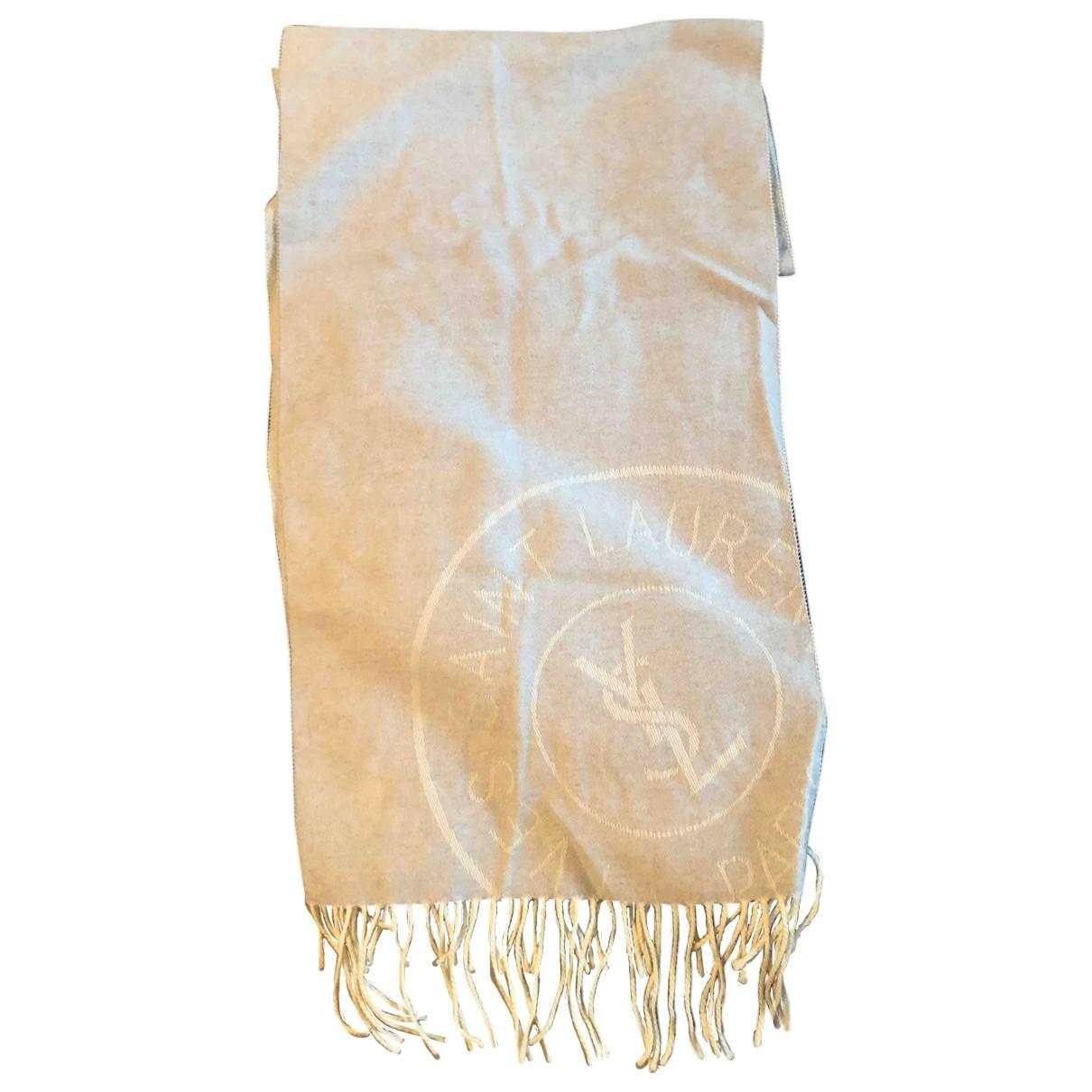 Yves Saint Laurent \N Grey Cashmere scarf for Women \N