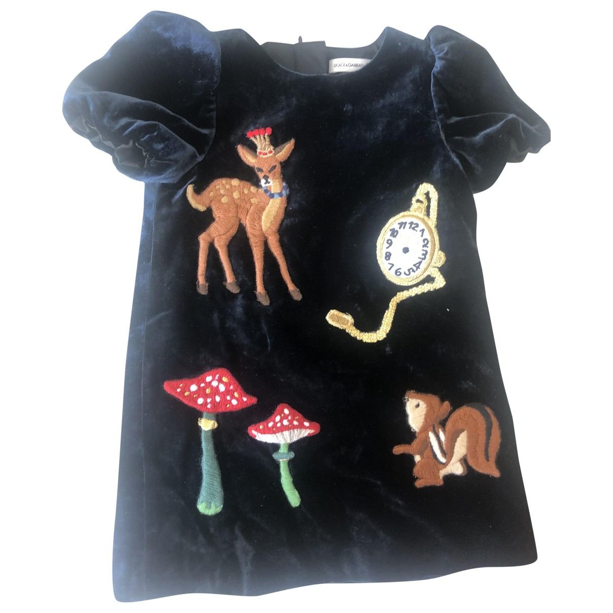 Dolce & Gabbana \N Blue Velvet dress for Kids 18 months - up to 81cm FR