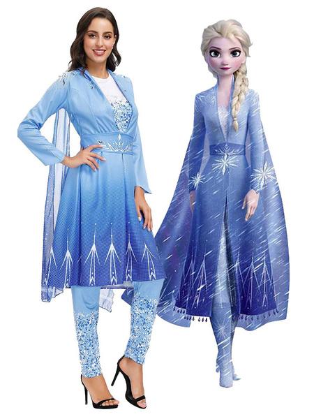 Milanoo Disfraz de Halloween Disney Frozen 2 Elsa Halloween