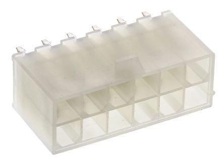 Molex , Mini-Fit Jr, 5566, 12 Way, 2 Row, Straight PCB Header (5)