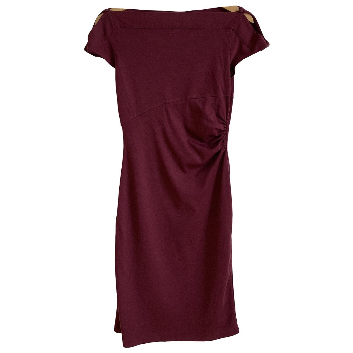 Diane Von Furstenberg \N Kleid in  Bordeauxrot Wolle