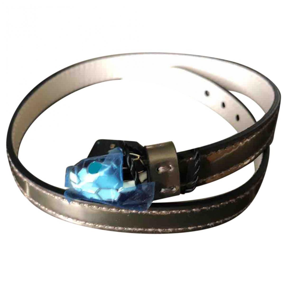 Bvlgari - Bracelet Serpenti pour femme en cuir - metallise