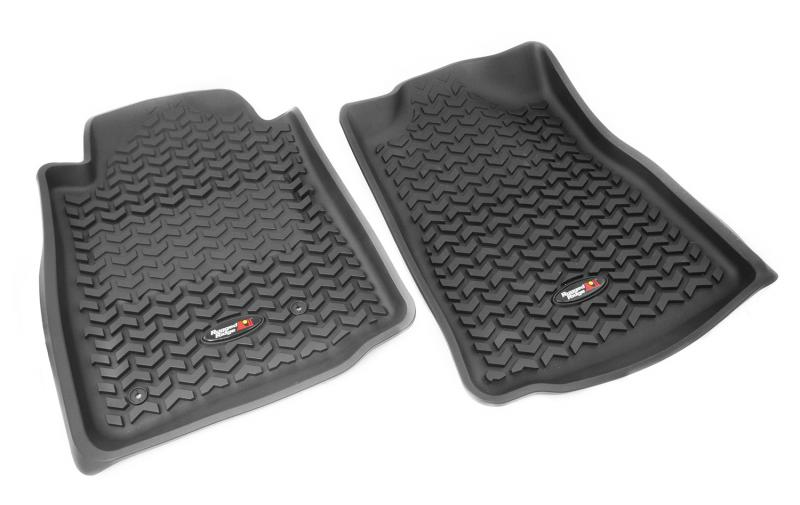 Rugged Ridge 82904.2 Floor Liners, Front, Black; 08-11 Toyota Sequoia/Tundra Toyota