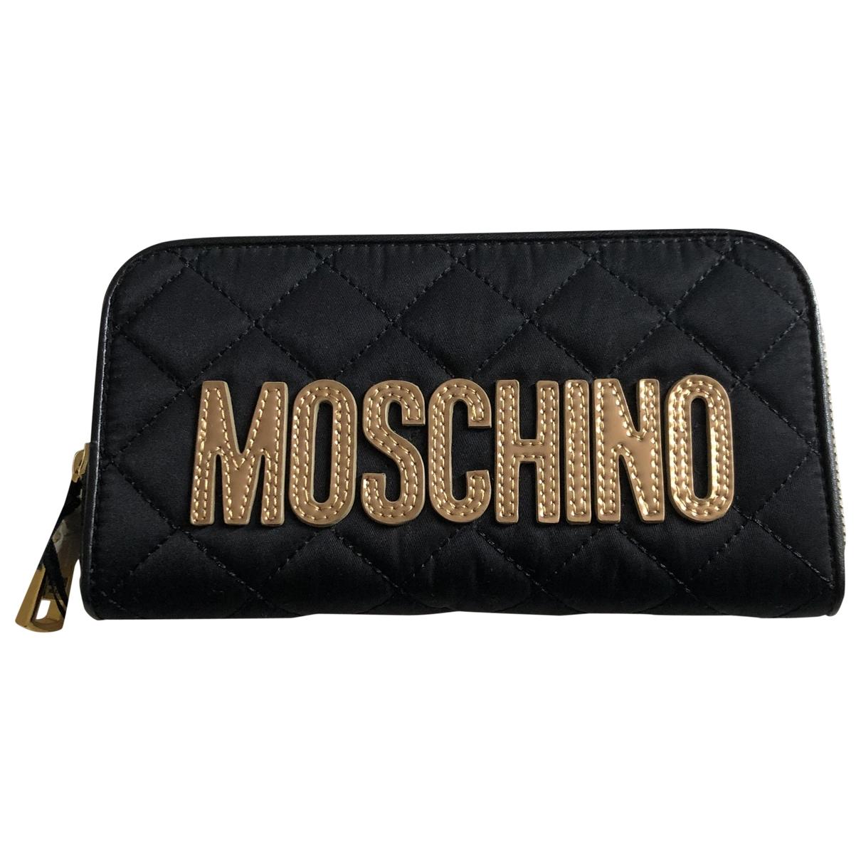 Moschino - Portefeuille   pour femme en toile - noir