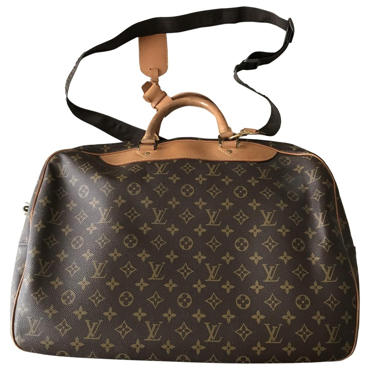 Louis Vuitton Alizé Brown Cloth Travel bag for Women \N