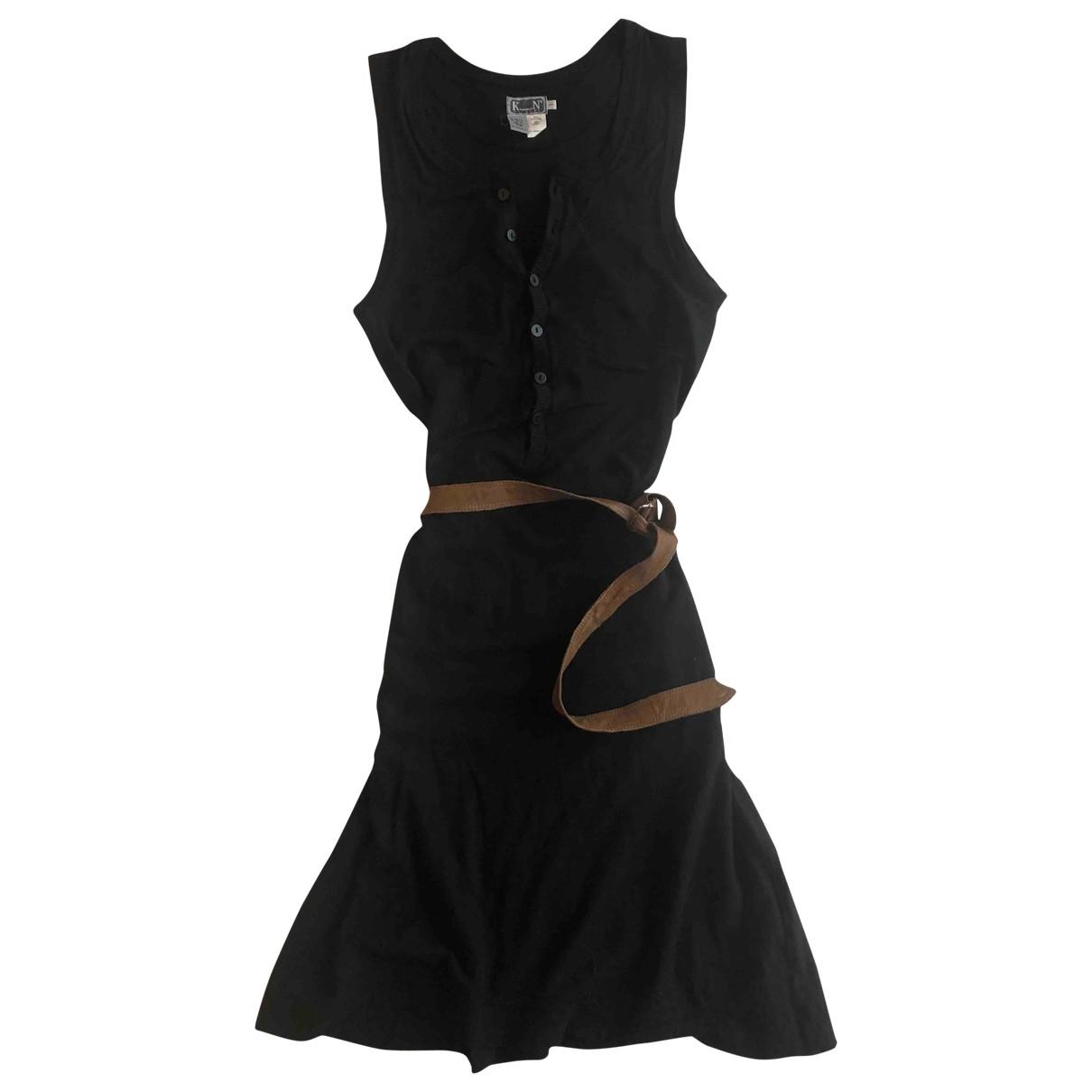 Kristensen Du Nord \N Kleid in  Schwarz Baumwolle