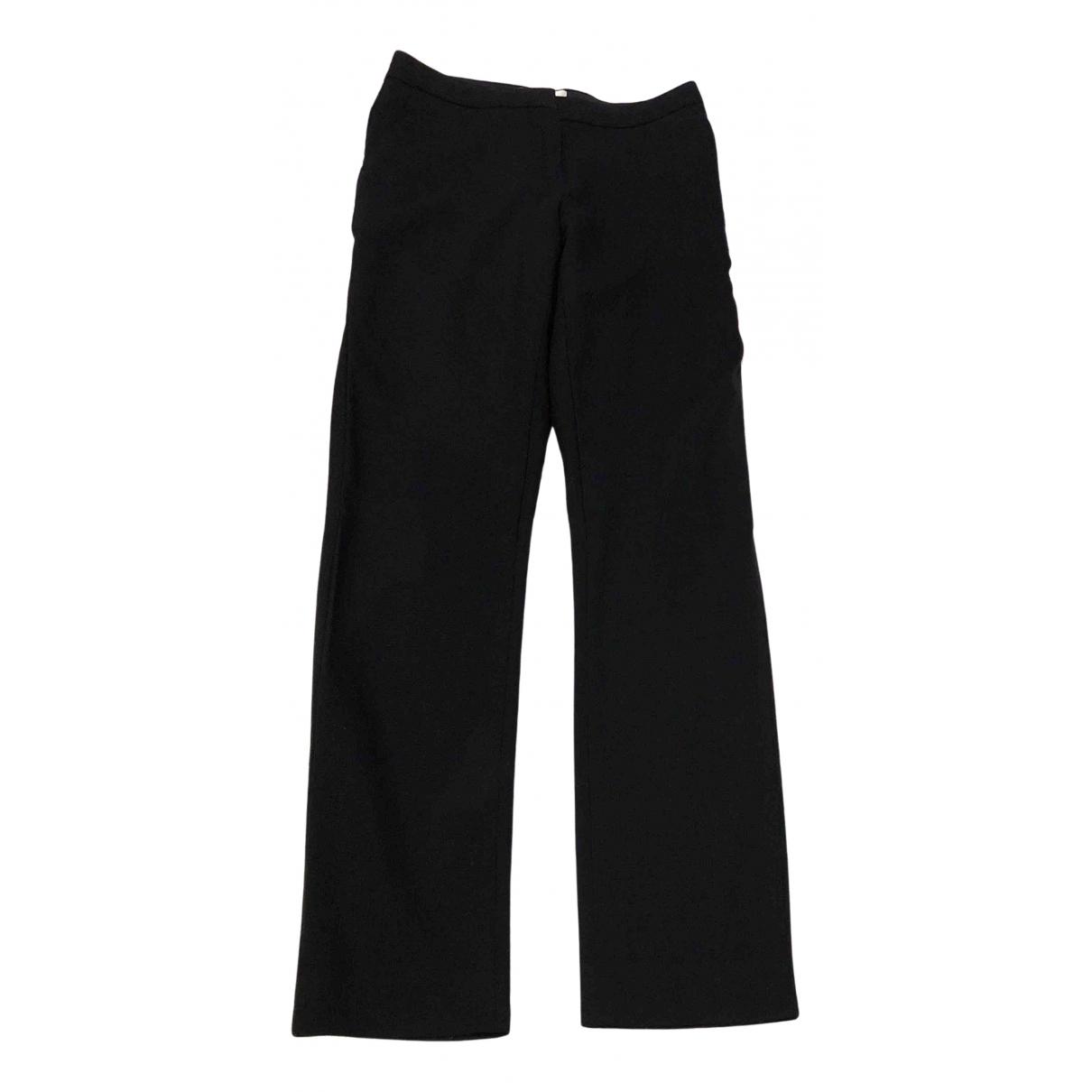 Reiss \N Black Wool Trousers for Women 8 UK