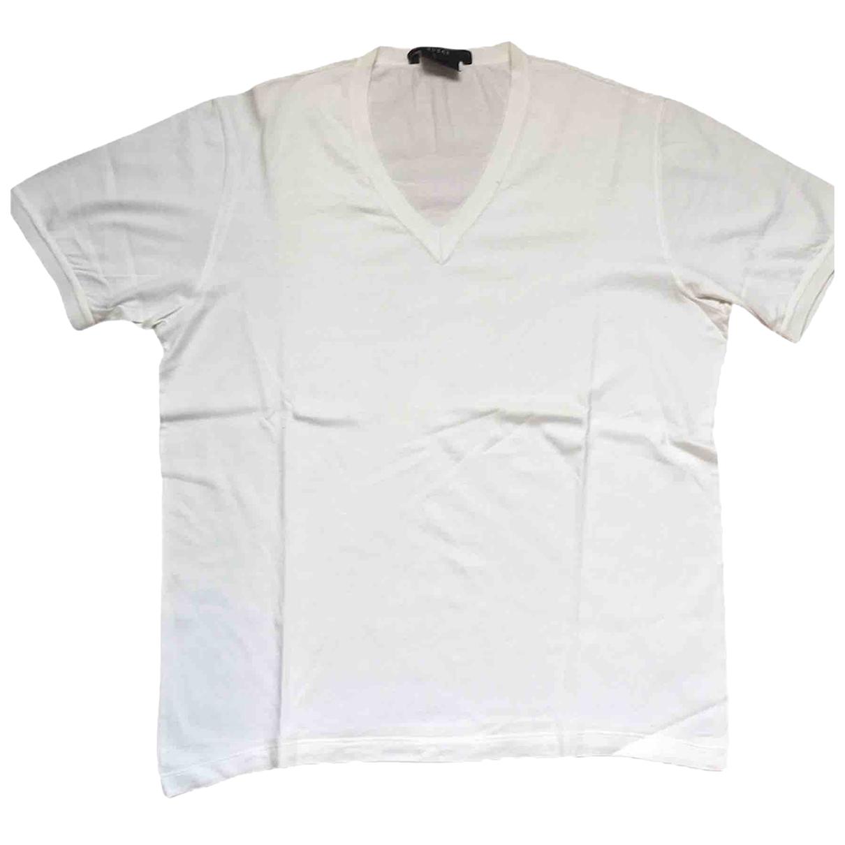 Gucci - Tee shirts   pour homme en coton - blanc