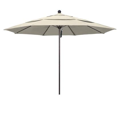 ALTO118117-F22-DWV 11' Venture Series Commercial Patio Umbrella With Matted White Aluminum Pole Fiberglass Ribs Pulley Lift With Olefin Beige