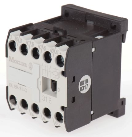 Eaton Contactor Relay - 3NO/1NC, 3 A Contact Rating