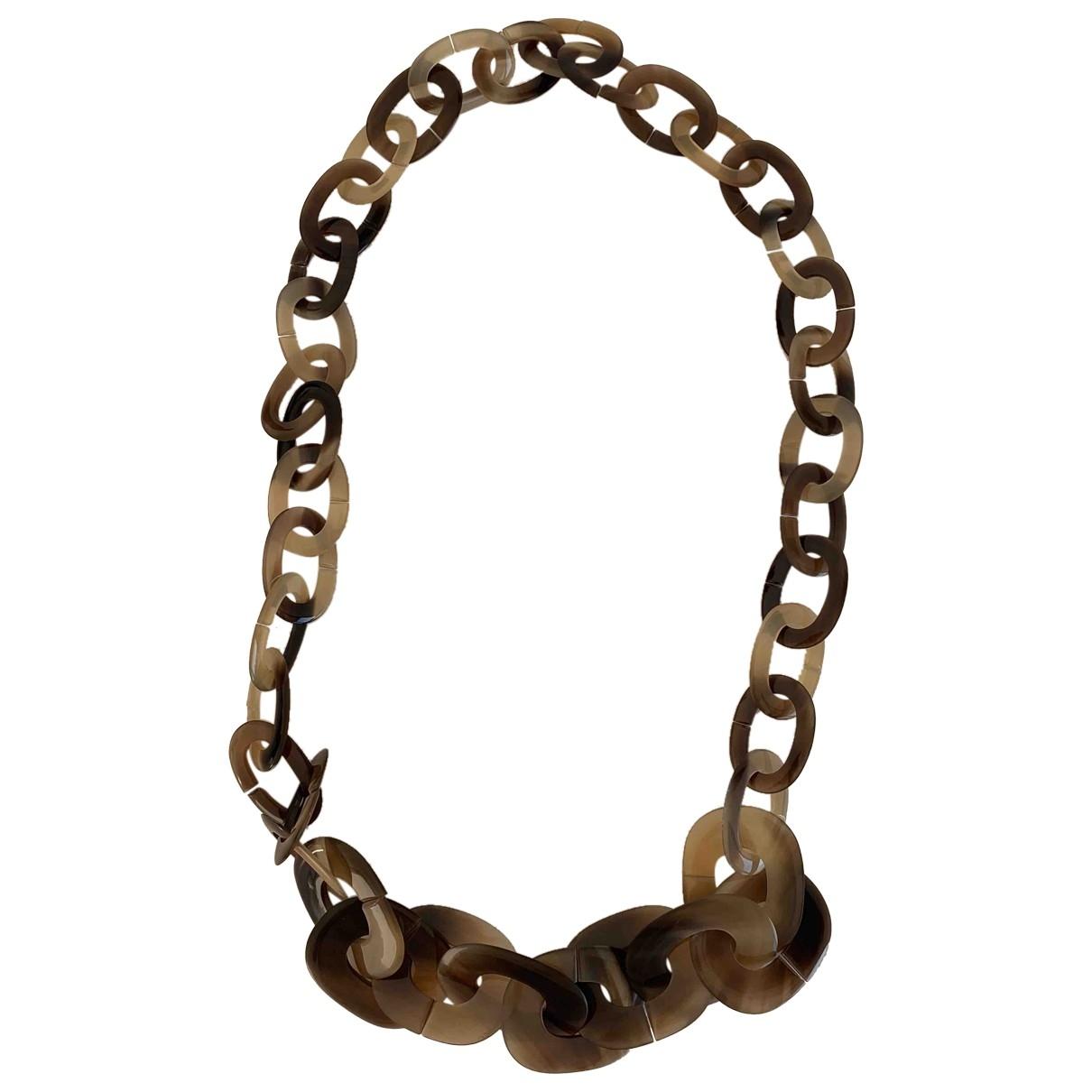 Hermès Kara Brown Horn necklace for Women \N