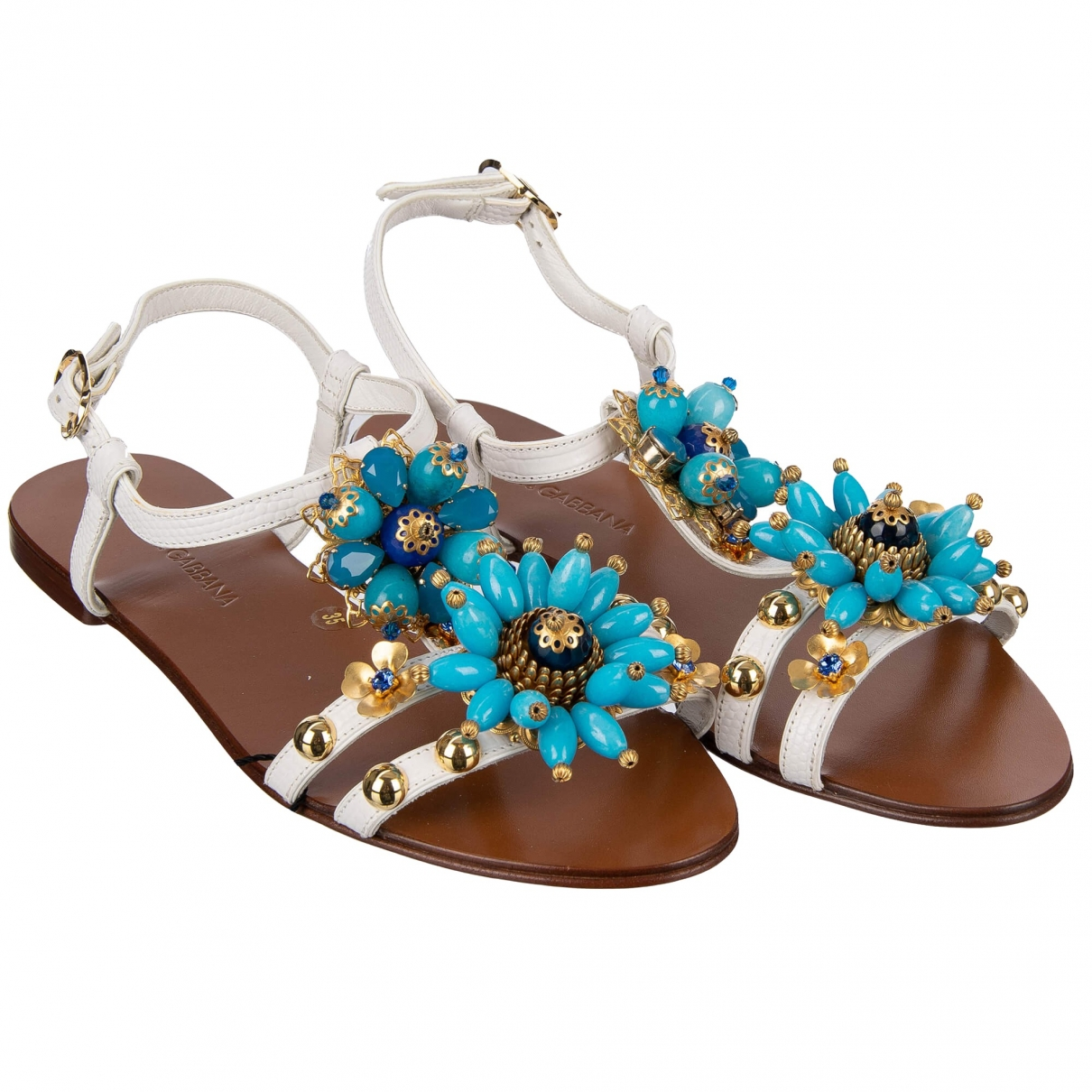 Dolce & Gabbana \N Blue Leather Sandals for Women 35 EU