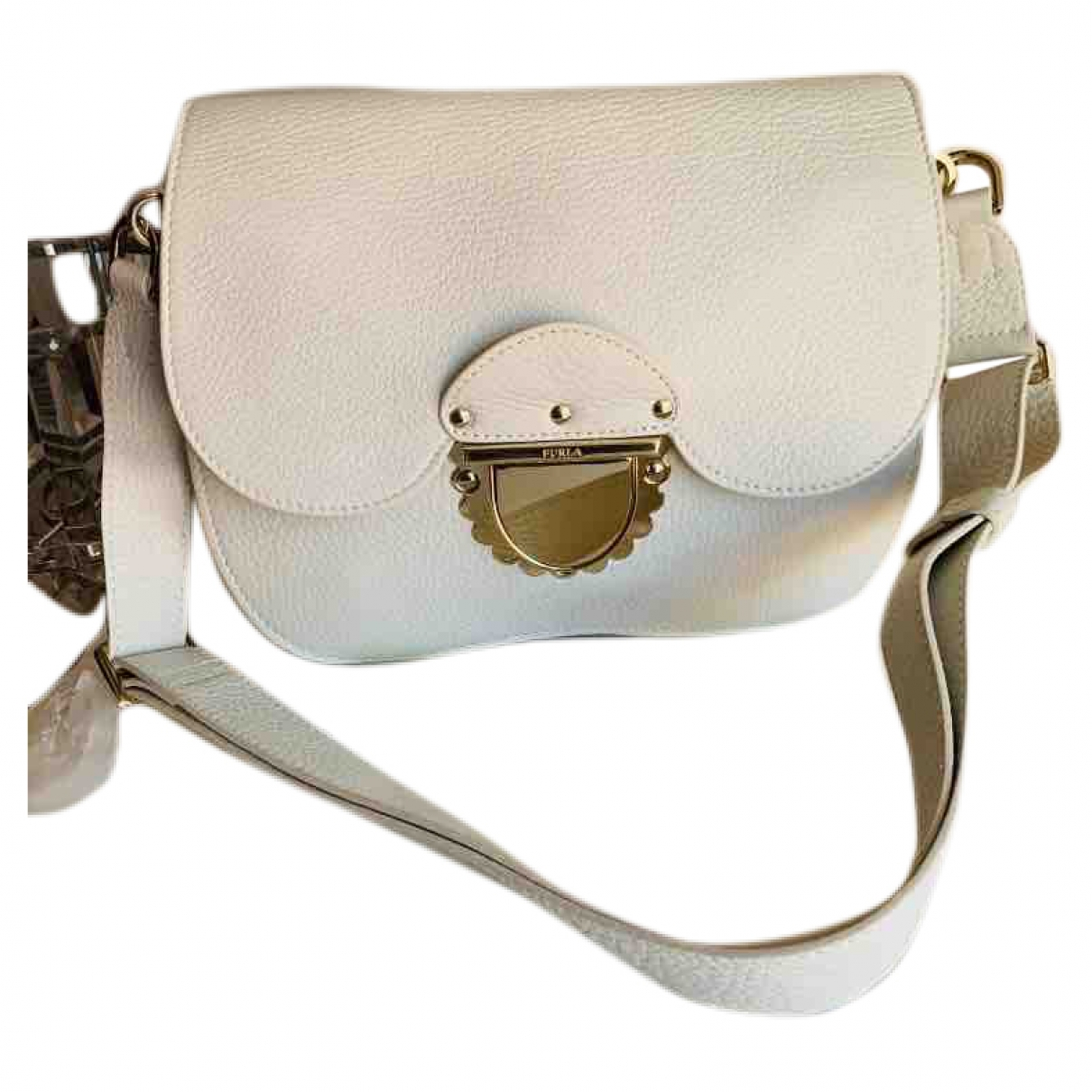Furla \N White Leather handbag for Women \N