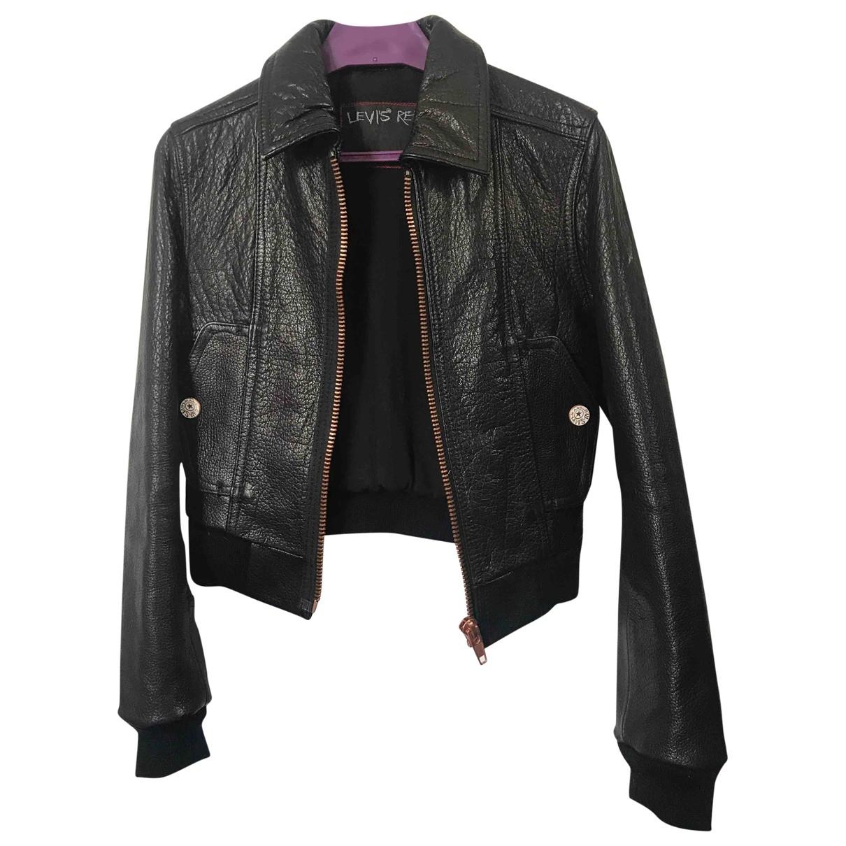 Levi's \N Black Leather Leather jacket for Women XS International