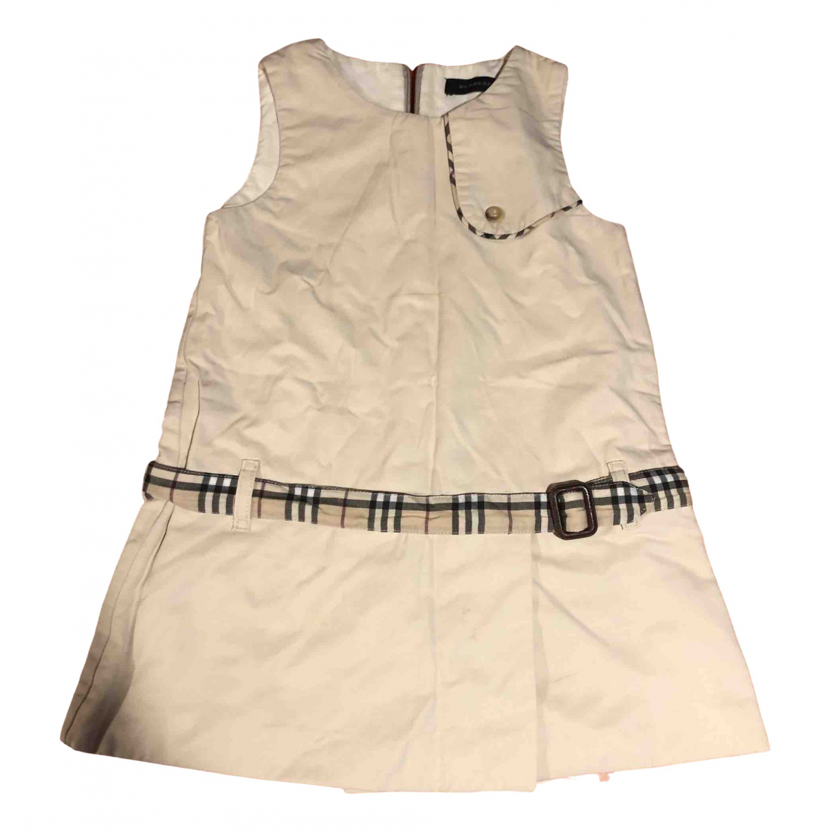 Burberry N White Cotton dress for Kids 2 years - until 34 inches UK