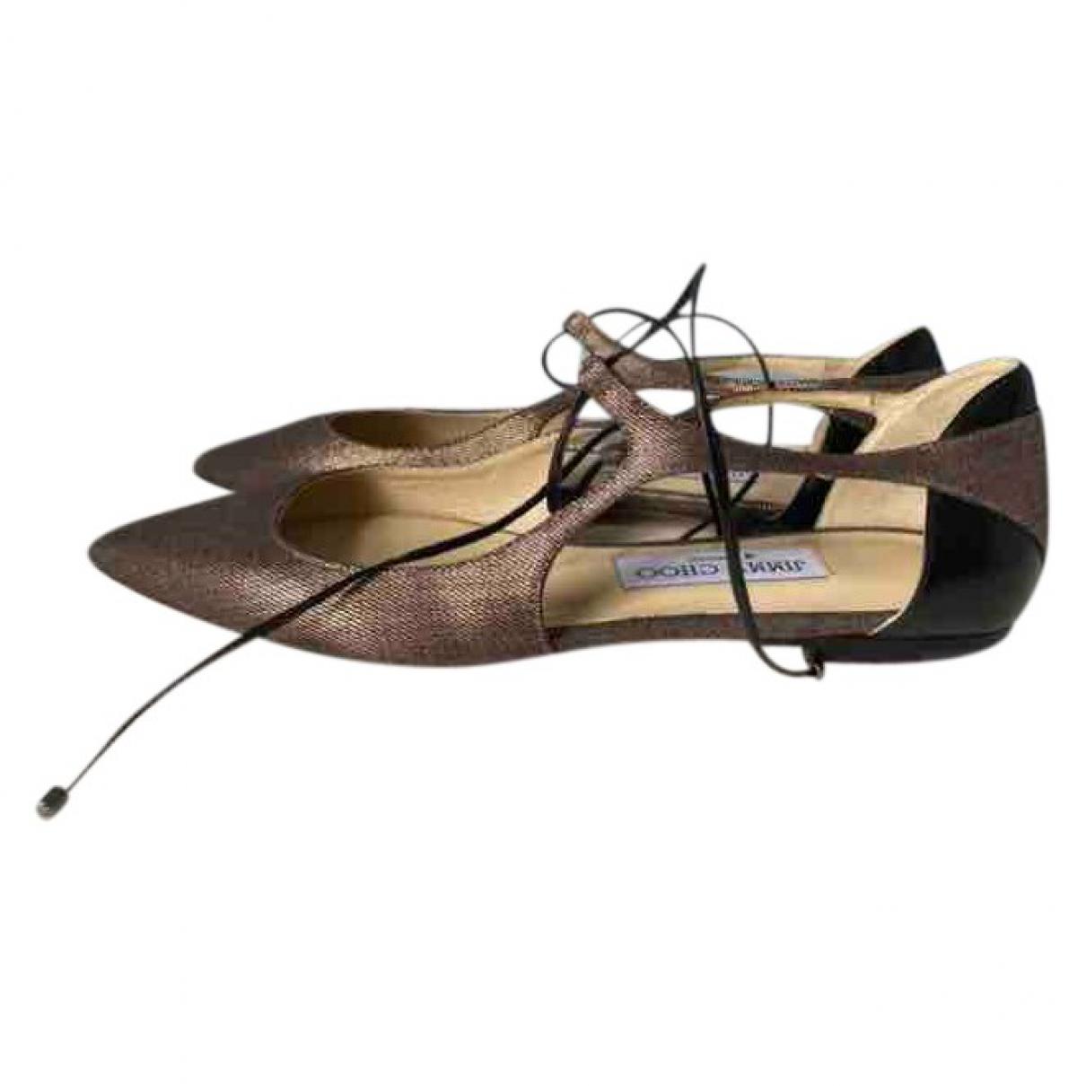 Jimmy Choo \N Metallic Leather Ballet flats for Women 37 EU