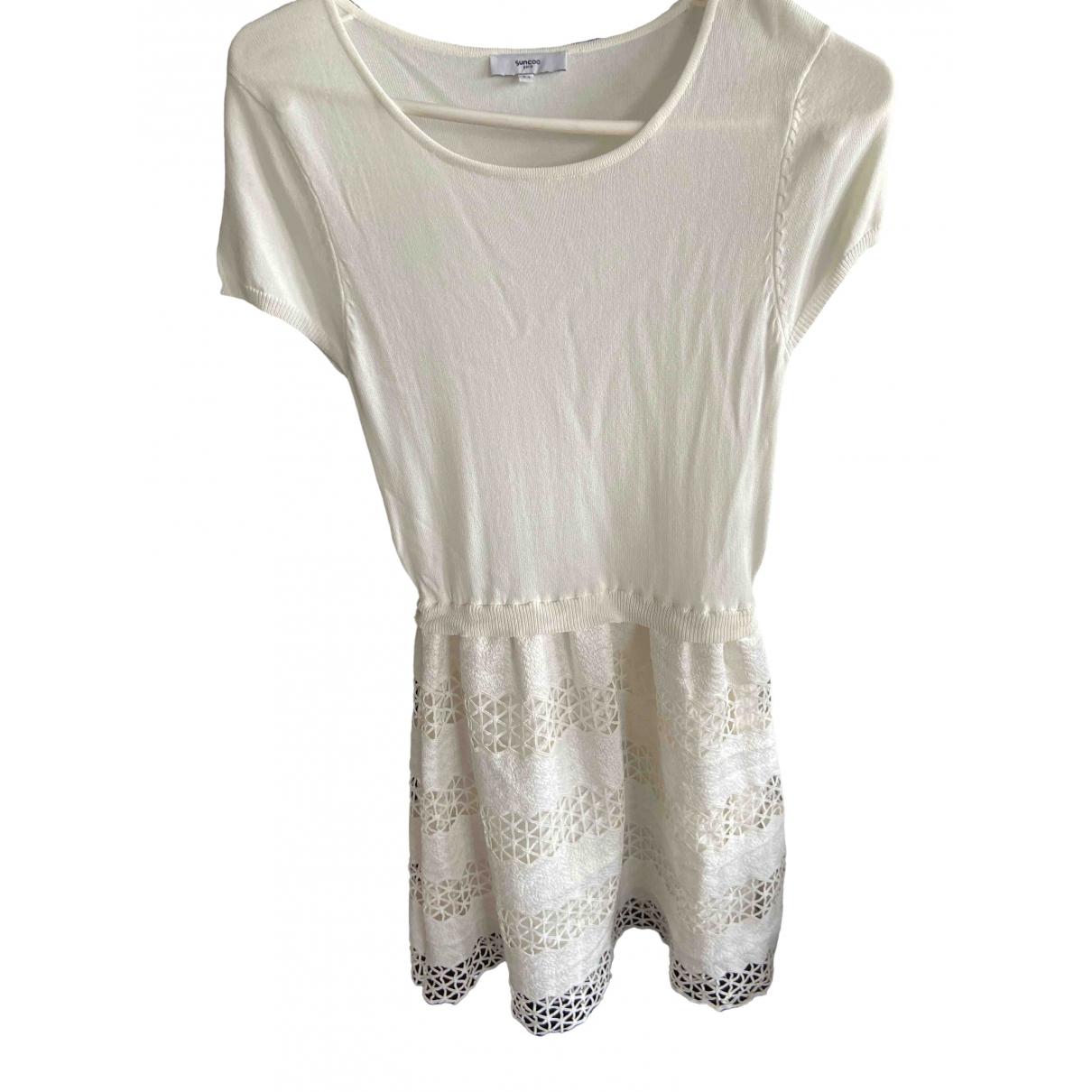 Suncoo - Robe   pour femme en coton - ecru