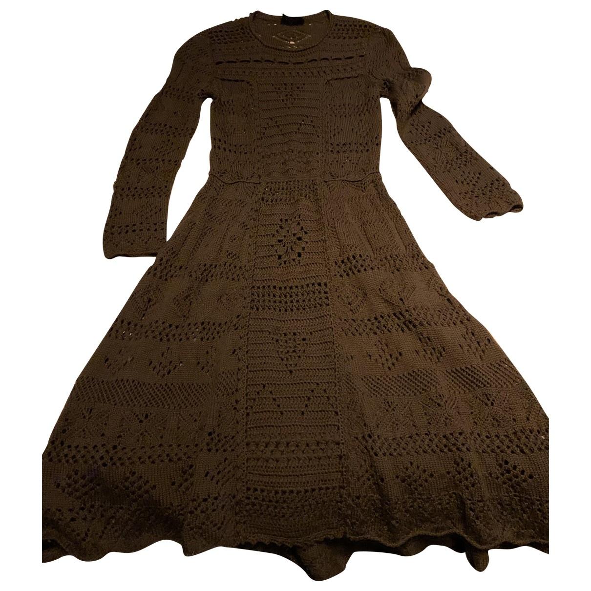 Prada \N Kleid in  Gruen Wolle