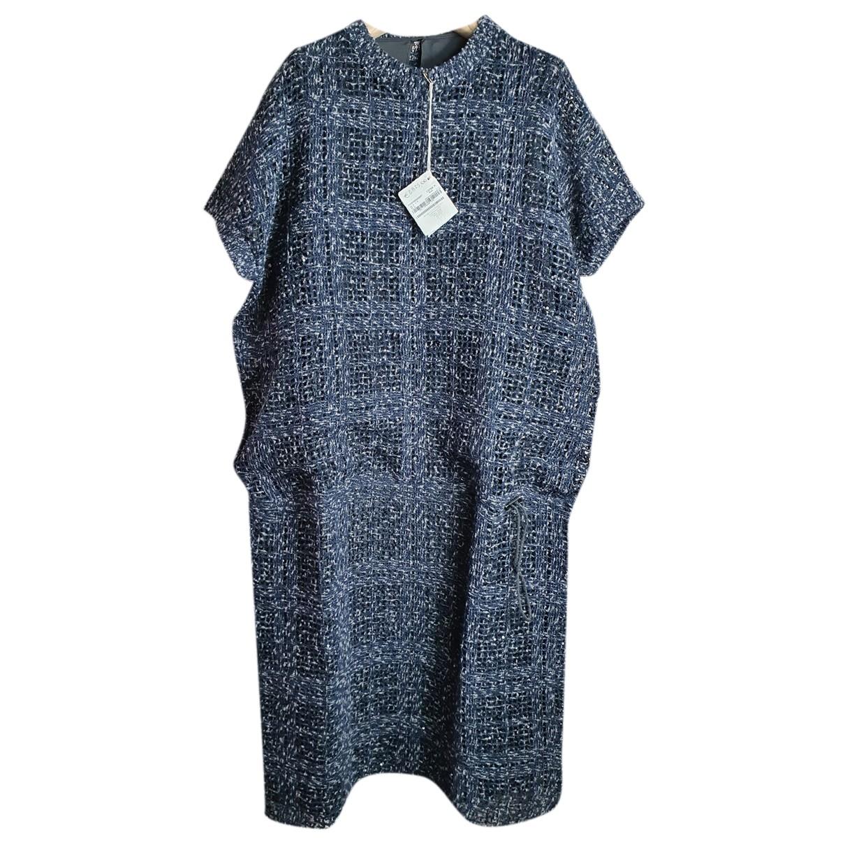 Brunello Cucinelli - Robe   pour femme en cachemire - bleu