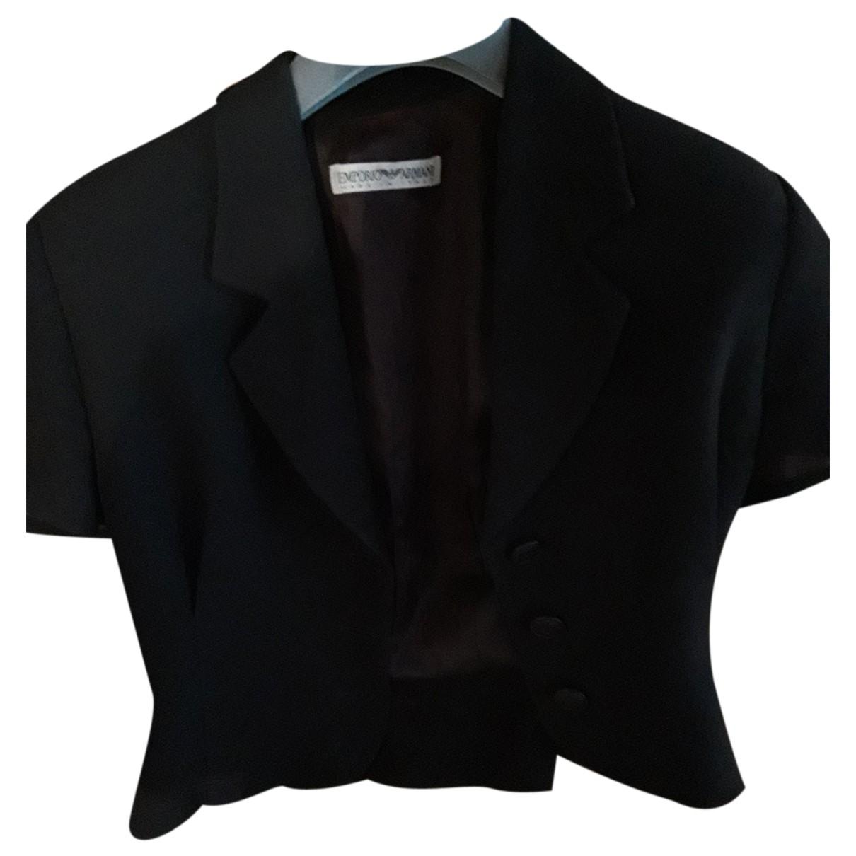 Emporio Armani N Black jacket for Women 40 FR