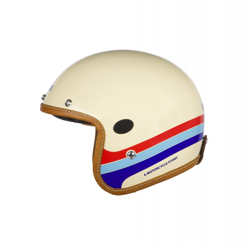 Helstons Mora Carbon Fiber Beige Jet Helmet 2XL