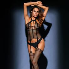 Cut Out Fishnet Bodystocking