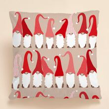 Christmas Santa Claus Print Cushion Cover Without Filler
