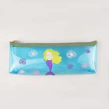 Mermaid Print Pencil Bag