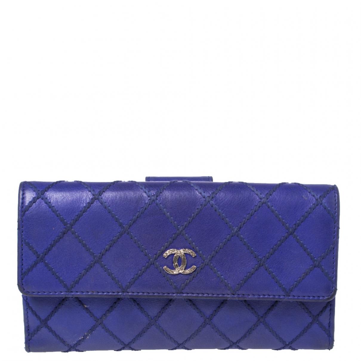 Chanel N Blue Leather wallet for Women N