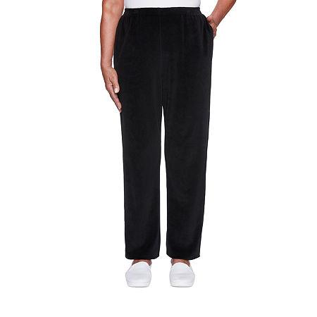 Alfred Dunner Modern Living Womens Straight Pull-On Pants, Medium , Black