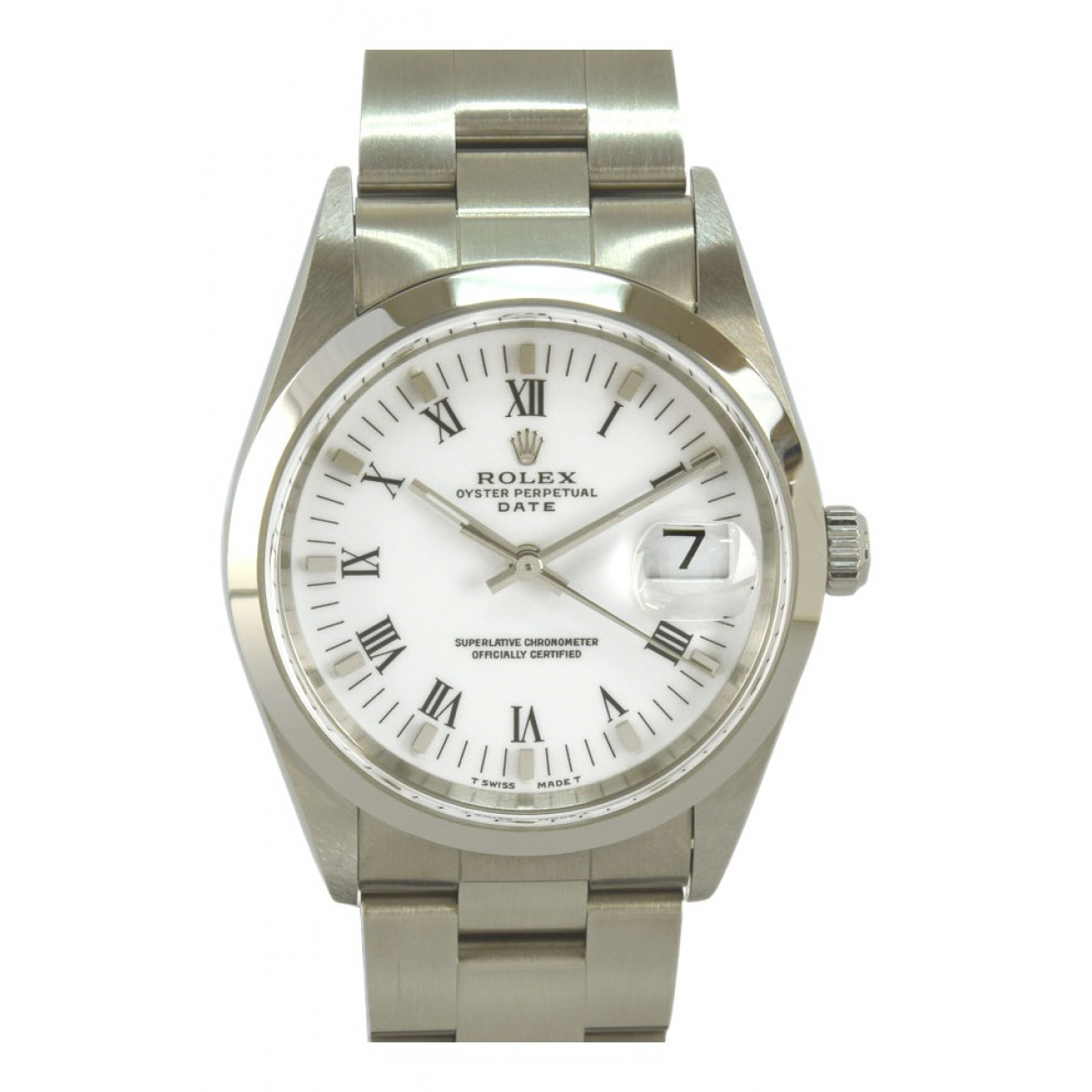 Rolex Oyster Perpetual 34mm Uhr in  Weiss Stahl