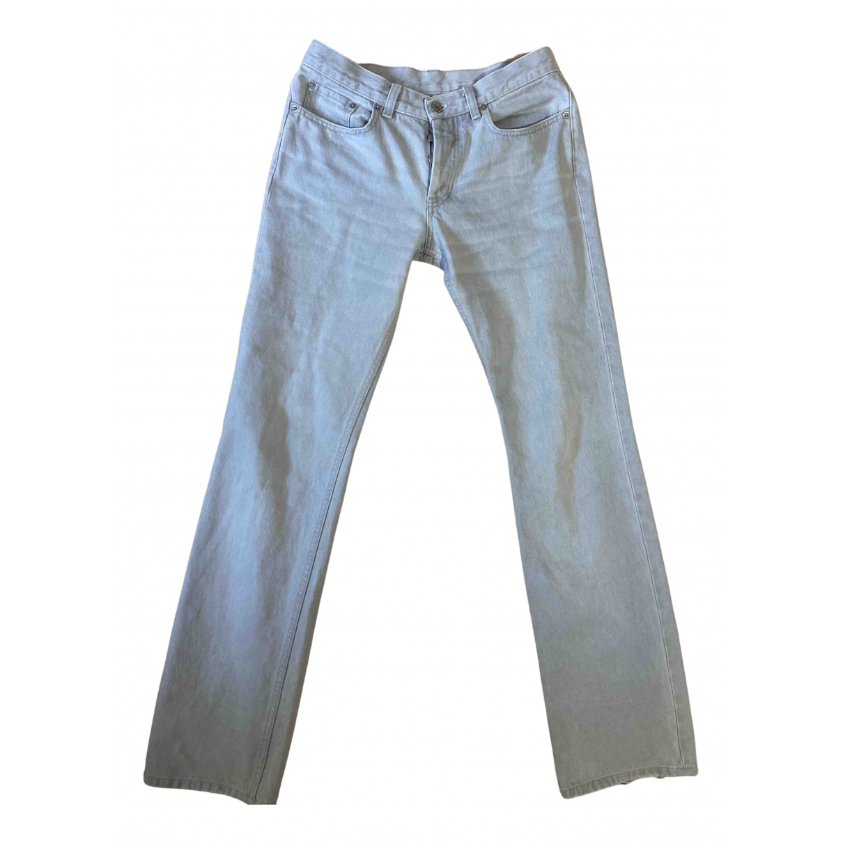 Helmut Lang N Grey Cotton Trousers for Men S International