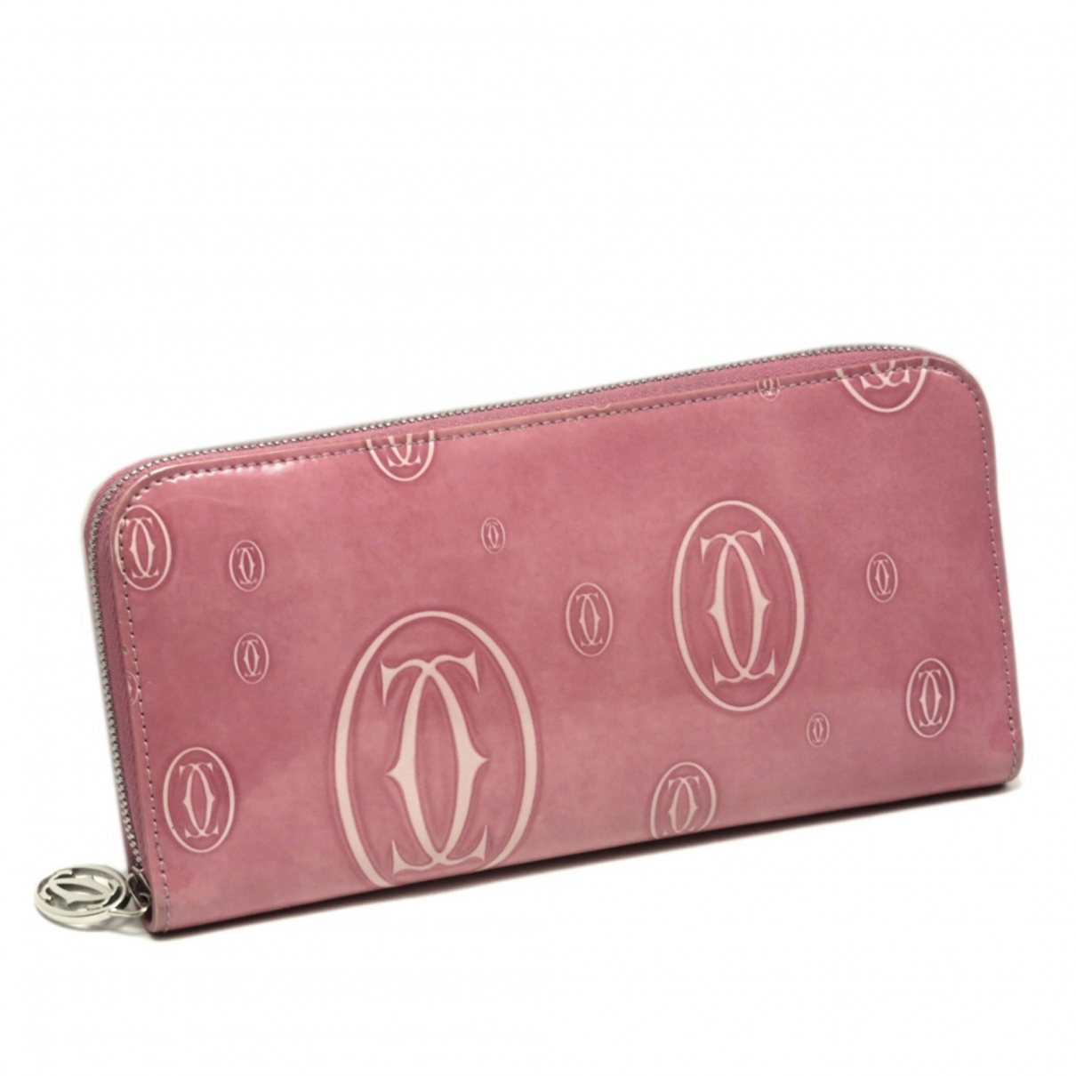 Cartier - Portefeuille   pour femme en cuir - rose