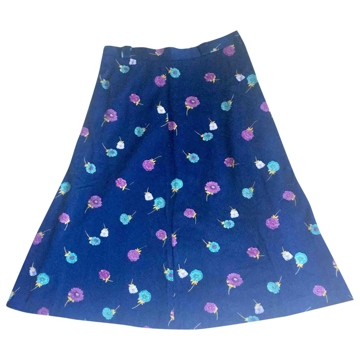 Non Signé / Unsigned Hippie Chic Cotton skirt for Women 42 IT