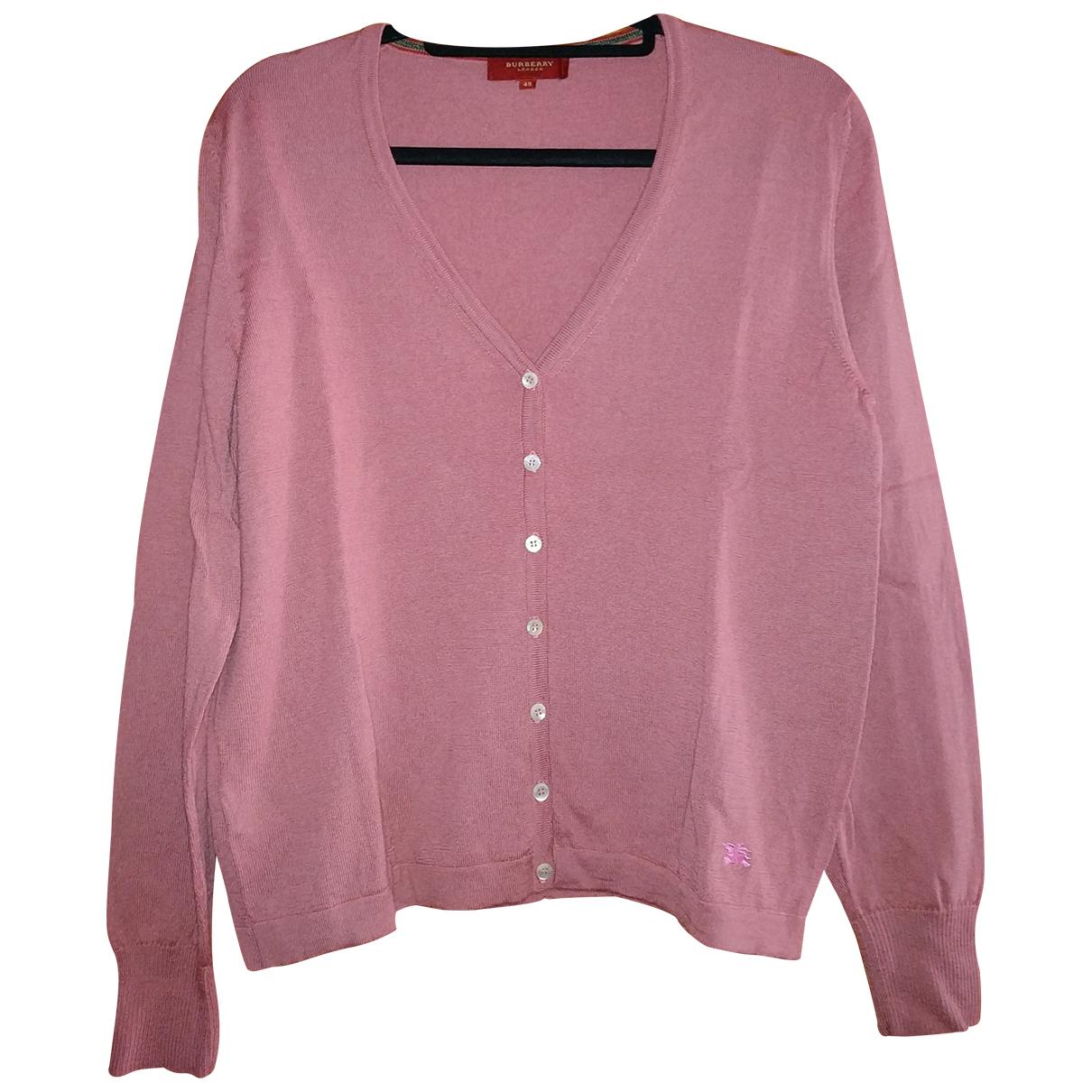 Burberry - Pull   pour femme en laine - rose