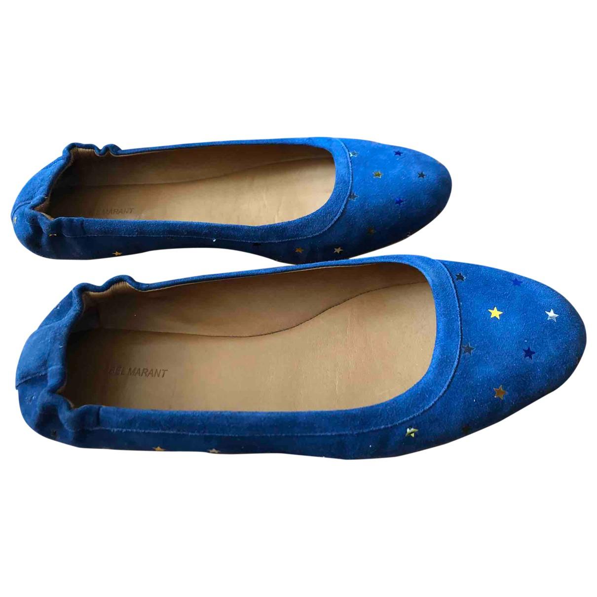 Isabel Marant N Blue Suede Ballet flats for Women 37 EU