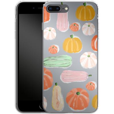 Apple iPhone 8 Plus Silikon Handyhuelle - Pumpkin Pattern Grey von Mukta Lata Barua