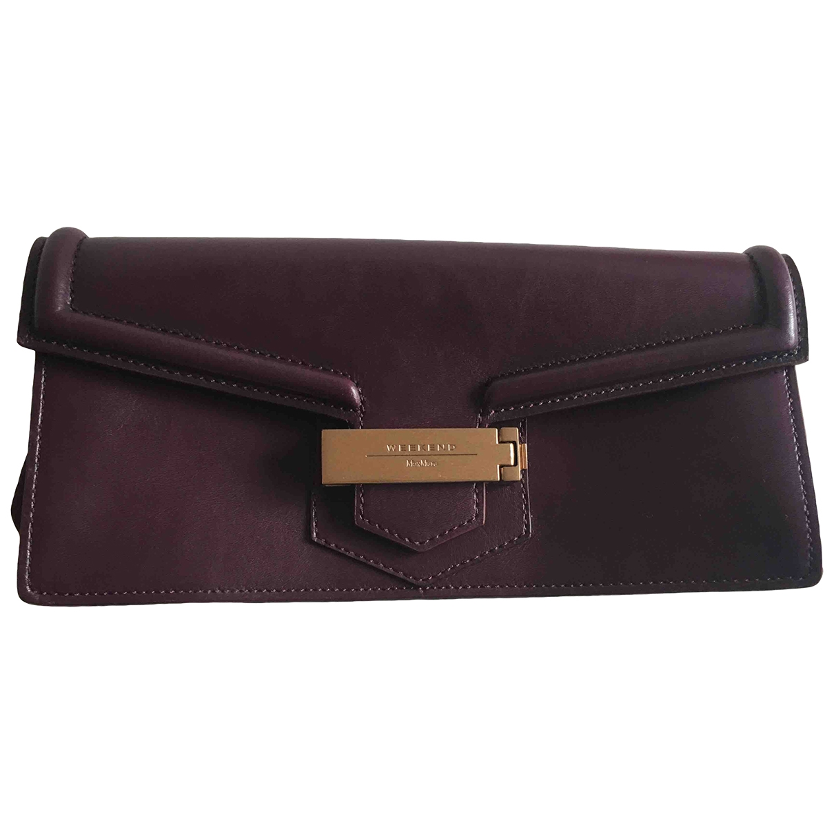 Max Mara Weekend \N Purple Leather Clutch bag for Women \N