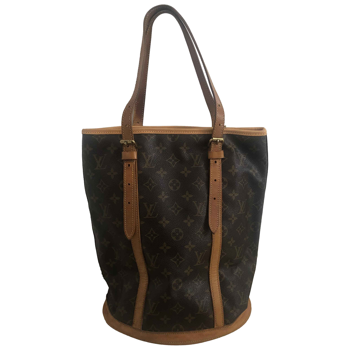 Louis Vuitton - Sac a main Bucket  pour femme en toile - marron