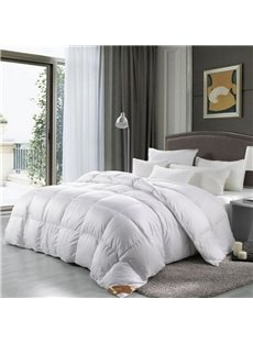 Luxurious Goose Down and Feather White Comforter All-Season Machine Washable