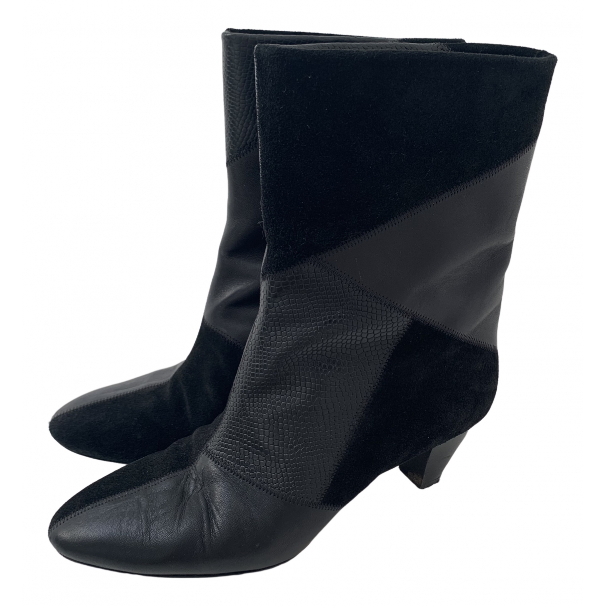 Isabel Marant \N Black Leather Ankle boots for Women 37 EU