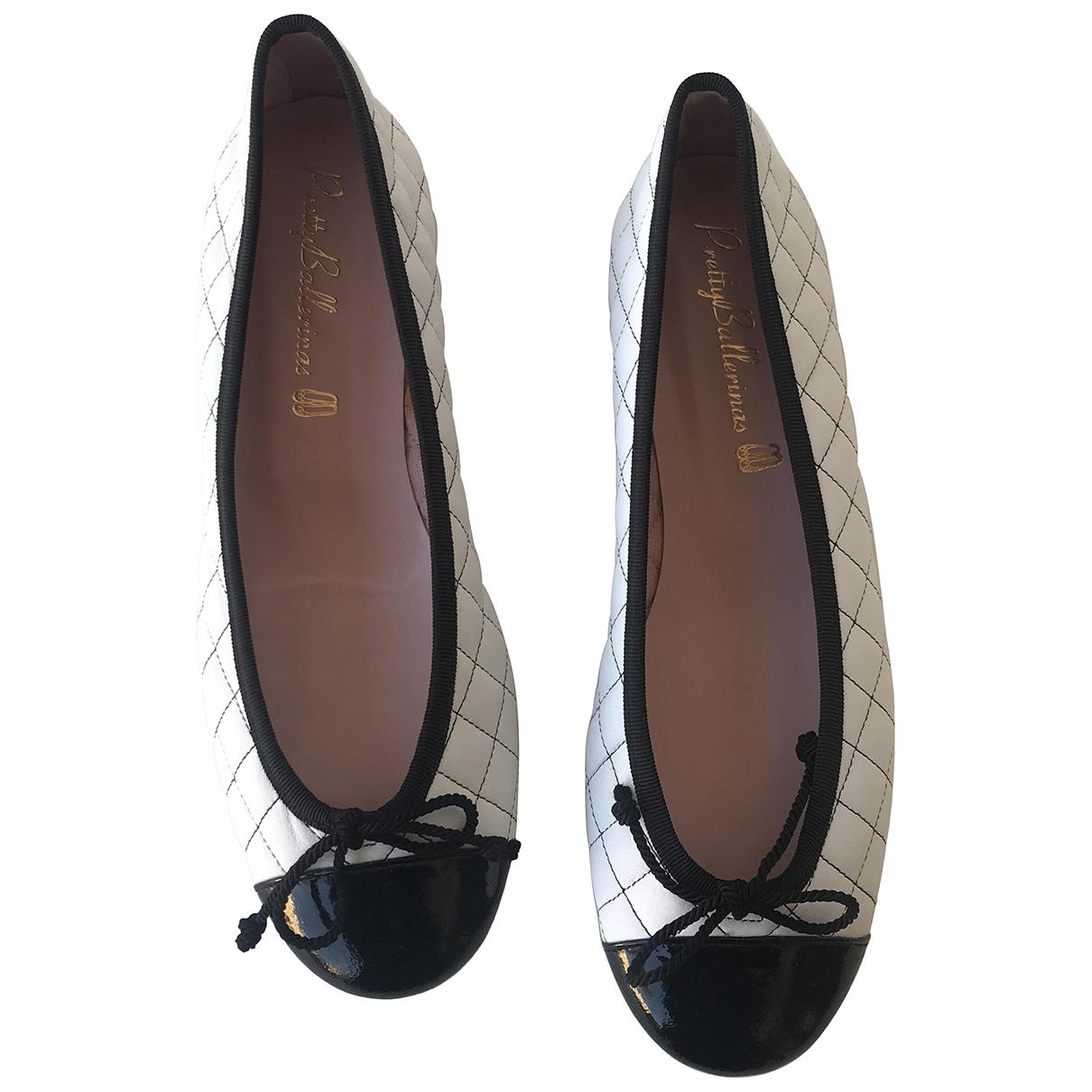 Pretty Ballerinas \N Ballerinas in  Weiss Leder