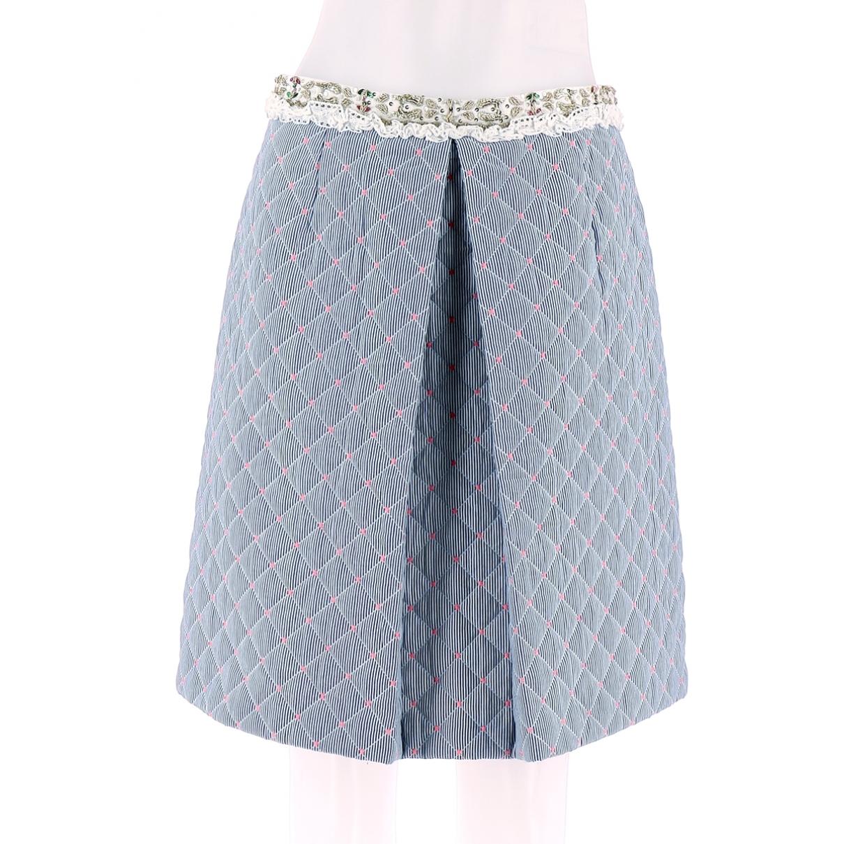 Manoush - Jupe   pour femme en coton - bleu