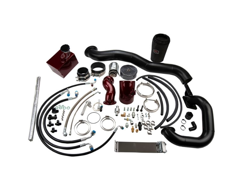 WCFab 2013-2018 6.7 Cummins S400/Stock Twin Turbo Kit Red Two Stage Powder Coating