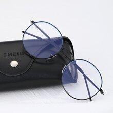 Maenner Brille mit rundem Rahmen
